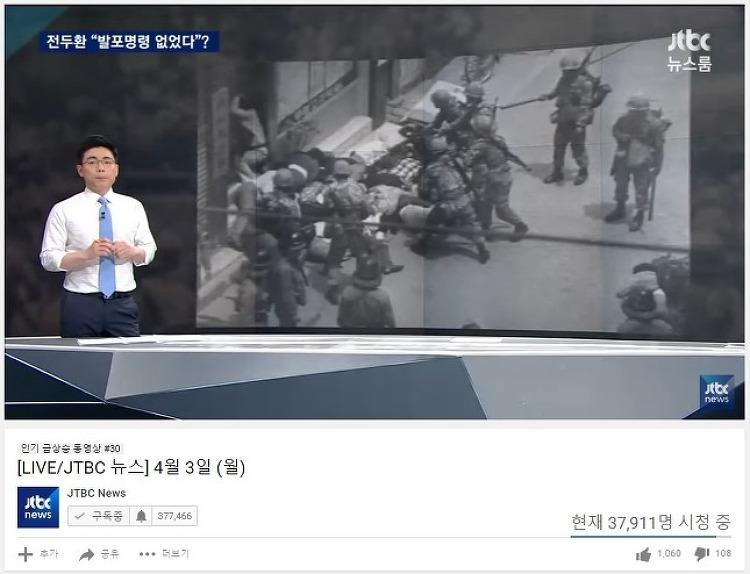 (동시간 유튜브 시청자로 비교하니) 종편뉴스 질주가 예사롭지 않습니다.