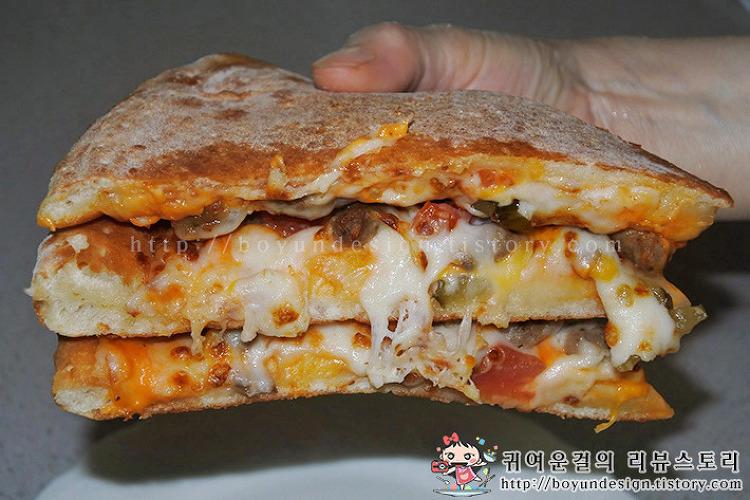 [배달맛집 하남]파파존스 더블치즈버거 피자! 햄버거 맛에 신기하고 놀라