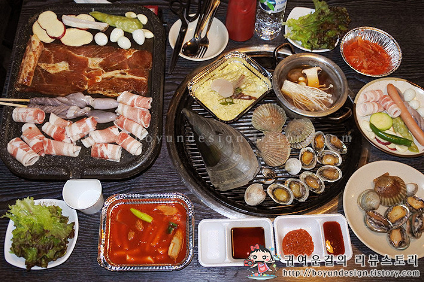 [노원맛집]상계동회식장소 조개창고! 고기,분식,꼬치,조개구이무한리필