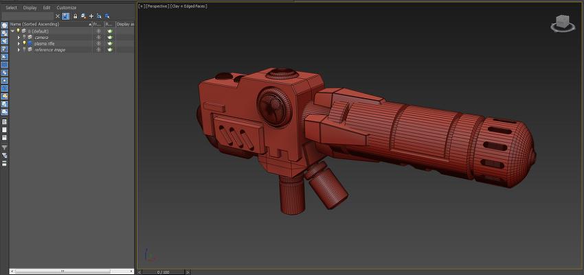 Warhammer 40k 3D Modeling - Tau Plasma Rifle
