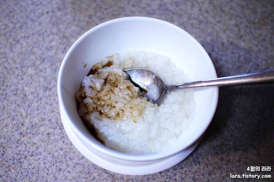 장염에 좋은 음식, 흰죽 끓이는법