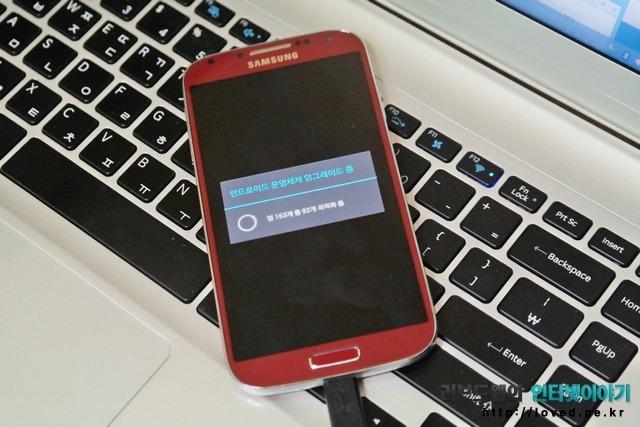 삼성 키스, 갤럭시S4 LTE-A 펌웨어 업데이트 방법, 주의 사항