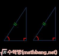 직각삼각형 합동의 조건 (1) - RHA 합동
