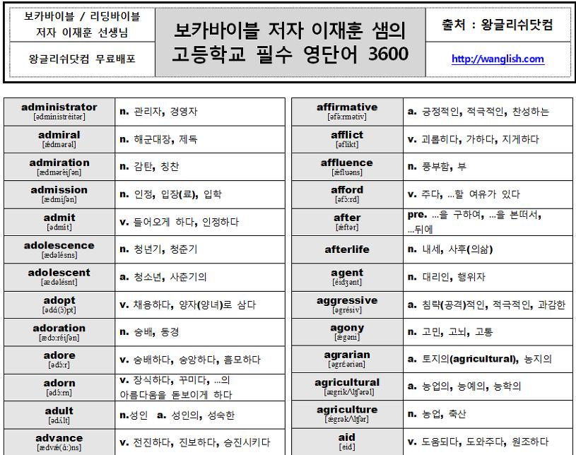 수능 영어 단어 pdf