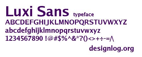 디자인 폰트 - Luxi Sans