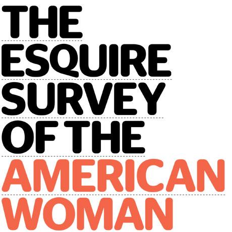 에스콰이어지가 실시한 미국여성 설문조사