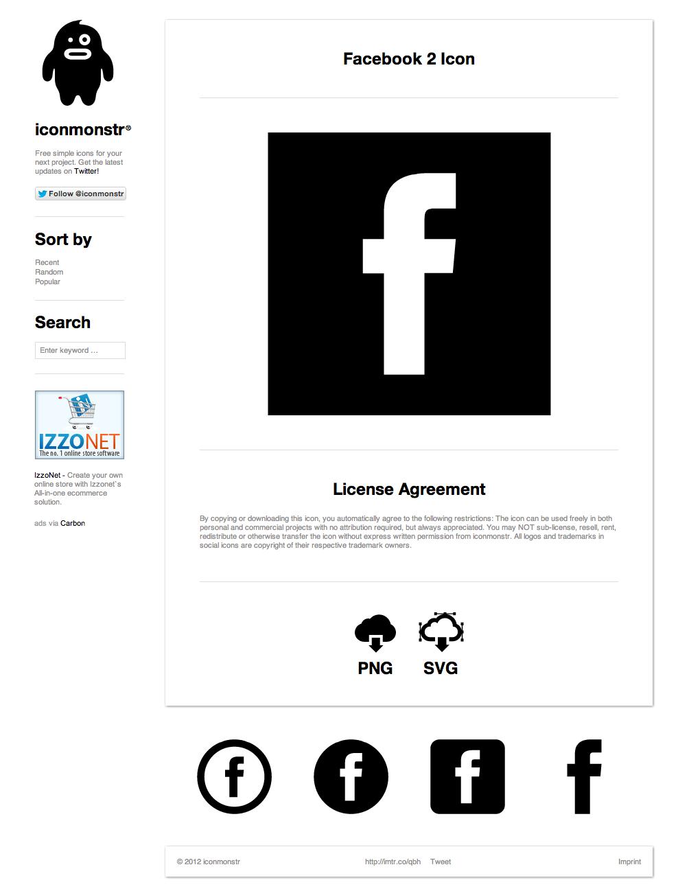 하이퀄리티 심플 아이콘 무료 다운로드 사이트 - 아이콘 몬스터(iconmonstr)
