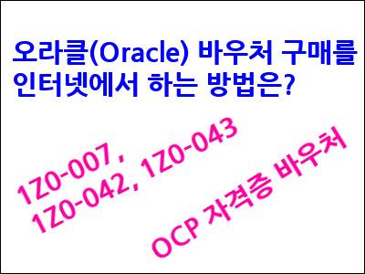 오라클(Oracle) 바우처 구매-돌82넷