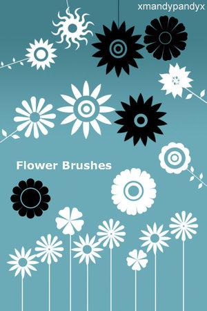 Design resources :: 꽃 문양 포토샵 브러쉬 무료 다운로드