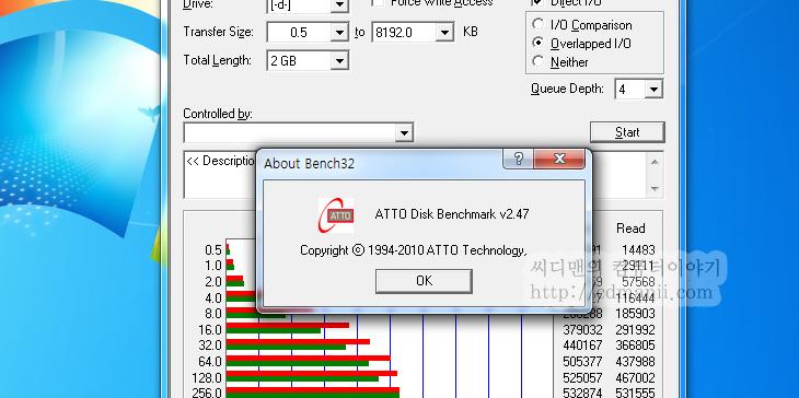 ATTO disk benchmark 2.47 다운로드, IT, 다운로드, 파일 벤치마크, 벤치마크, Benchmark, ATTO, 아토, SSD, Disk, Hard Disk, 하드디스크, 하드드라이브, 하드,ATTO disk benchmark 2.47 다운로드  디스크 벤치마크 프로그램은 여러가지가 있습니다. 그중 하나로 ATTO 디스크 벤치마크가 있습니다. ATTO disk benchmark 2.47 다운로드 후 실행하자마자 아래와 같은 창이 뜹니다. 벤치마크할 드라이브를 선택 후 간단히 Star t버튼을 누르는 것으로 벤치마크를 시작할 수 있습니다. 다른 벤치 프로그램 경우 읽기 테스트는 바로 진행이 가능하지만, 쓰기 테스트경우에는 파티션을 지워야가능한 경우가 있는데 ATTO disk benchmark 2.47는 바로 파일의 전송사이즈만큼의 읽기 쓰기 테스트를 바로 진행할 수 있습니다. 즉 비파괴 전송 테스트가 가능 합니다. 해당 드라이브의 최고 성능을 알아보는 목적으로 사용될 수 있습니다.