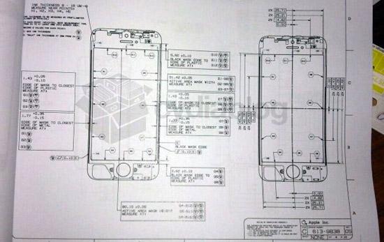 아이폰5 디자인 외형 설계도면