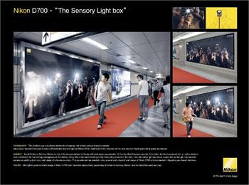 Nikon D700 '라이트박스 광고판'
