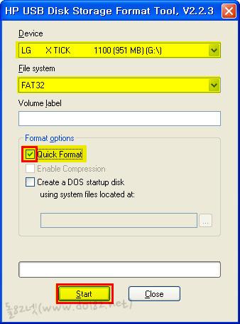 HP USB Disk Storage Format Tool로 usb메모리 포맷-돌82넷