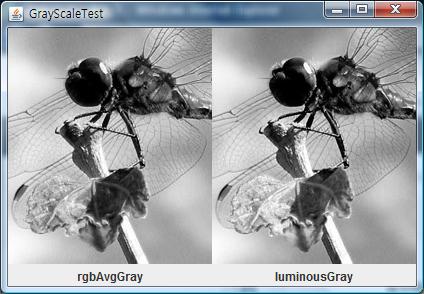 RGB평균과 YCrCb에서 Y를 이용한 이미지 비교