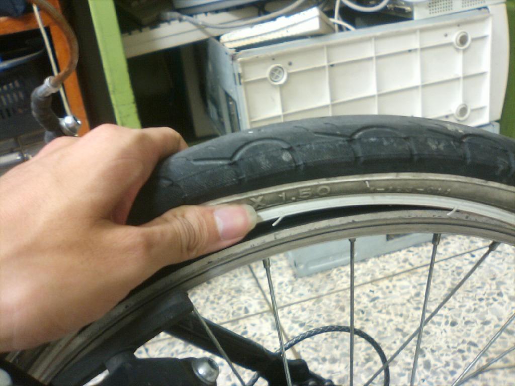 자전거 펑크(빵꾸) 때우는법