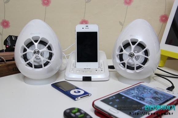 올라소닉 USB 스피커 TW-D7IP 안드로이드폰 갤럭시노트 음악 재생