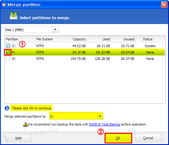 EaseUS Partition Master v.9.1.0 Home 파티션 합치기-돌82넷