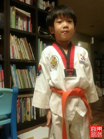 육아일기 6살 아들 태권도복