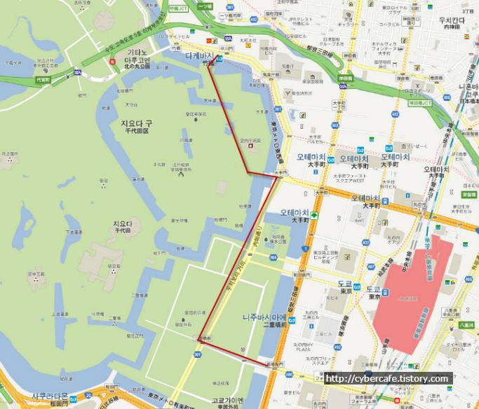 교코가이엔 지도
