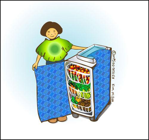 배기가스 (zero Emission) 서랍식 냉장고