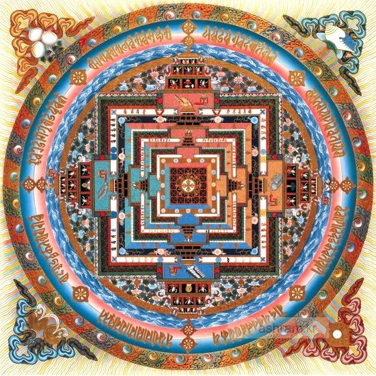 티베트(티벳) 불교 만다라 액자 <1> - 칼라차크라 (Kalachakra Mandala) 3