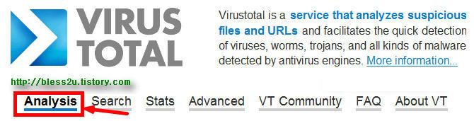 바이러스 및 악성코드 진단 사이트 virustotla             1