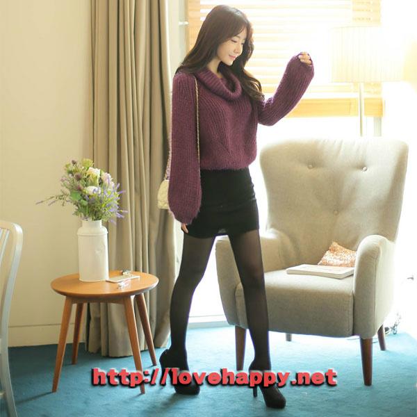 여성패션 니트 넥까지 올려서 입을 수 있는 오프숄더 004
