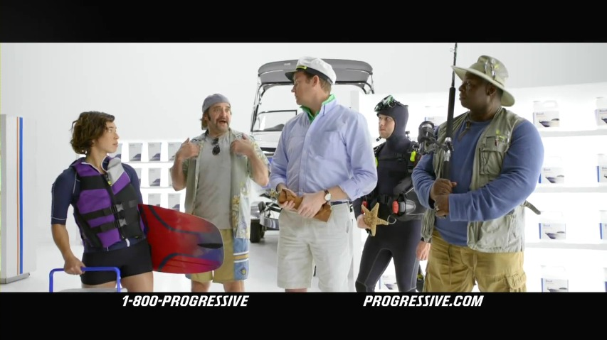 보트파와 레저용 차량파가 보험 커버리지를 놓고 벌이는 패싸움 - 프로그레시브 보험(Progressive Insurance) TV광고, '패싸움(Rumble)'편 [한글자막]