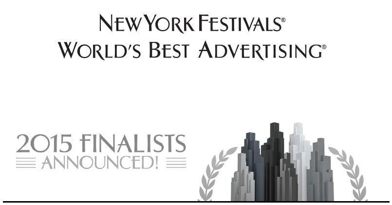 뉴욕페스티벌(New York Festivals) 광고제 2015 파이널리스트(Filnalists) 발표.