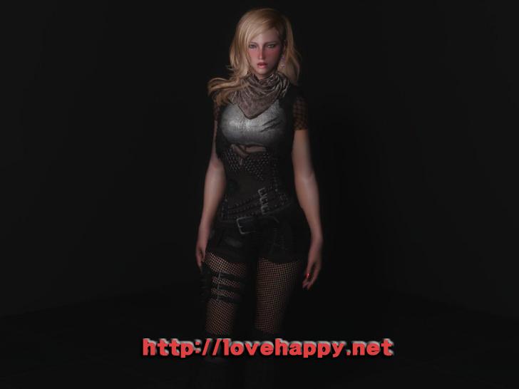 스카이림 의상 - 로그 의상 invader set-6 clothes skyrim mod 002