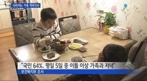 사진 = 아이들만 식사를 하고 있다 (국민 64% 평일5일 중 이틀 이상 가족과 저녁)