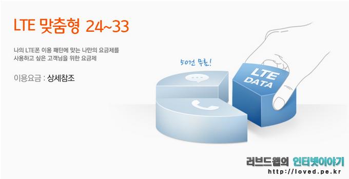 SKT LTE 맞춤형 24~33 요금제