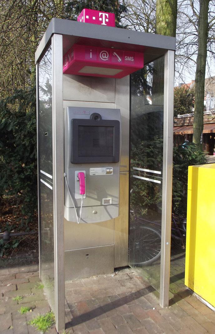 해외 공중전화 박스의 특별한 기능