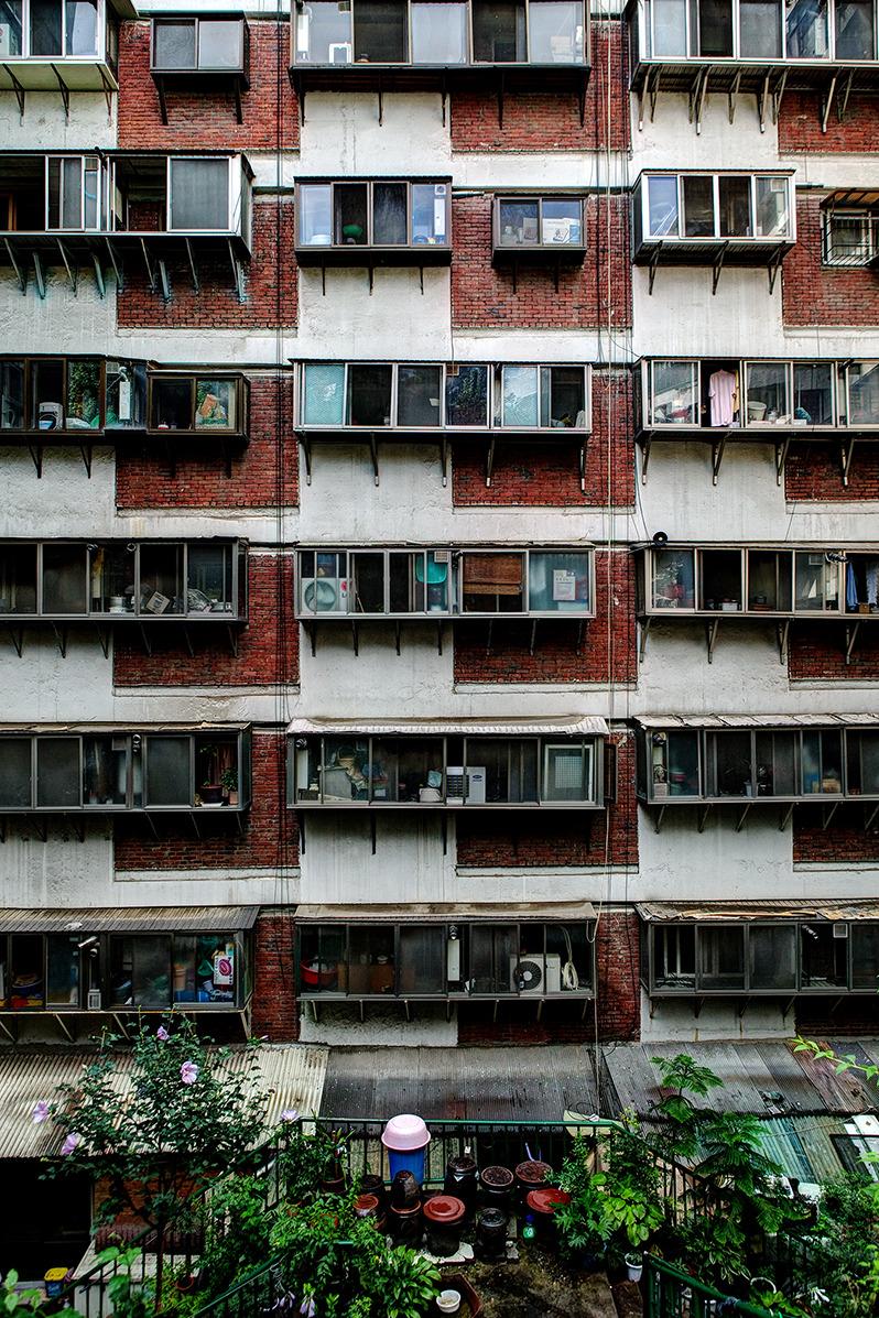 회현동 시범아파트-다닥다닥 붙어있는 아파트 모양이 정말 성냥갑을 연상케 한다.