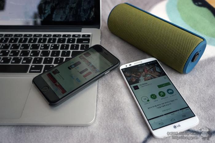 로지텍, UE boom, 페어링, 스마트폰, 아이폰, 블루투스, 스피커