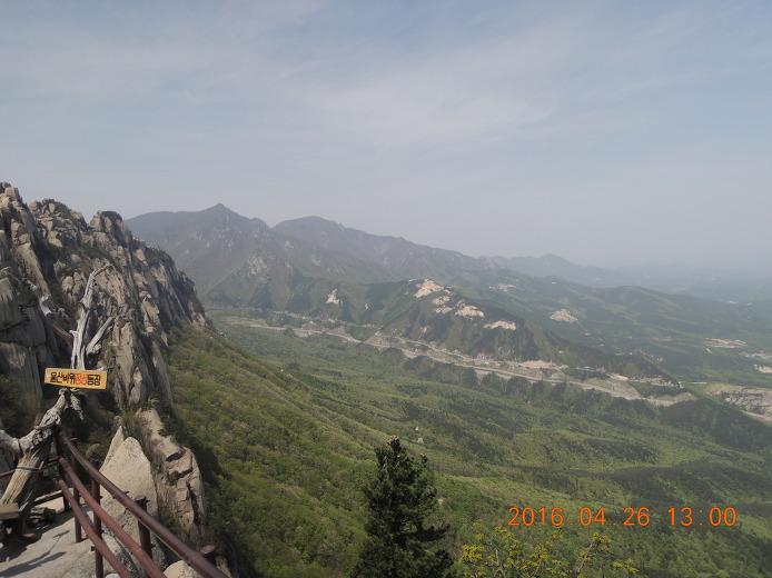 울산바위 등산코스 등산지도