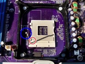 메인보드 CPU 소켓 레버