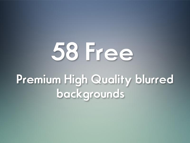 58 가지 무료 고화질 블러 백그라운드(배경) 이미지 - 58 Free Premium High Quqlity JPEG Blurred Backgrounds