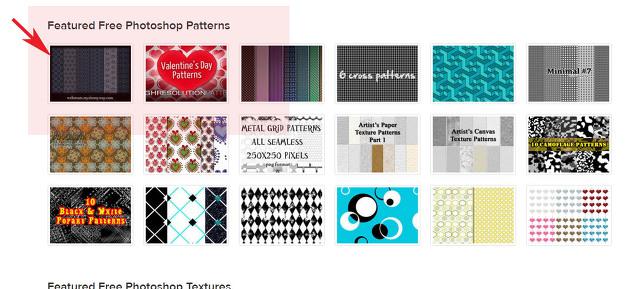 포토샵 무료 패턴 다운 사이트 이용방법