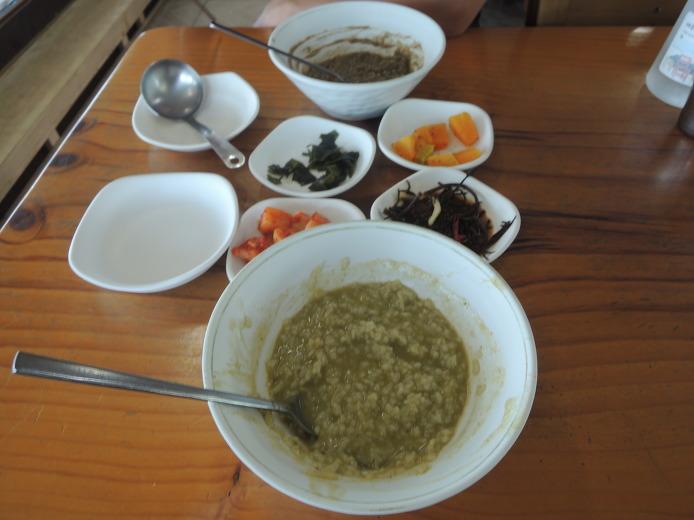 제주 먹거리 겡이죽 섭지해녀의 집