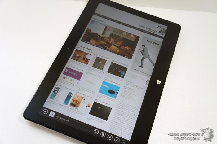 LG 탭북2(11T540-G330K), 세로보기