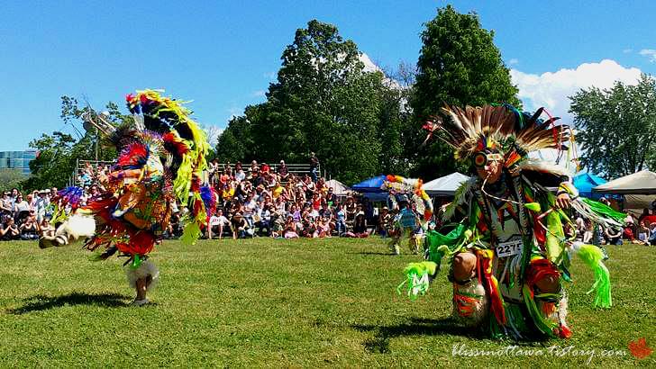 캐나다 원주민 하지 대축제입니다