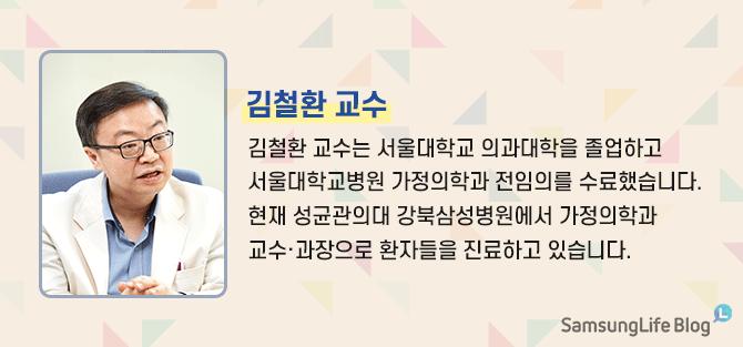 김철환 교수 김철환 교수는 서울대학교 의과대학을 졸업하고 서울대학교병원 가정의학과 전임의를 수료했습니다