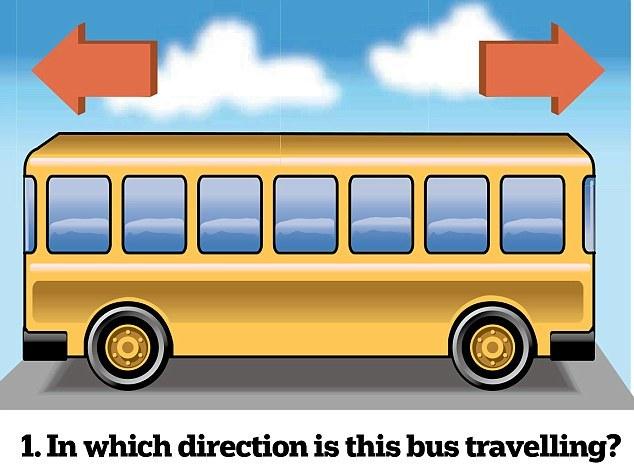 В какую сторону движется автобус