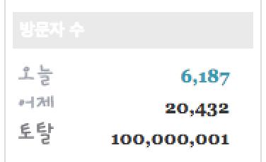 1억명 블로그