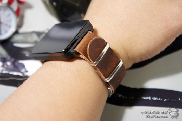 g watch, G워치, 시계줄, 교체, 나토밴드, 가죽 스트랩