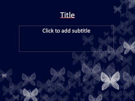 나비 파워포인트 배경