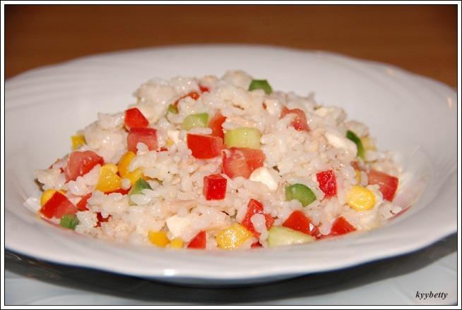 신선한 채소로 만든 쌀 샐러드(INSALATA DI RISO CON VERDURE FRESCHE)
