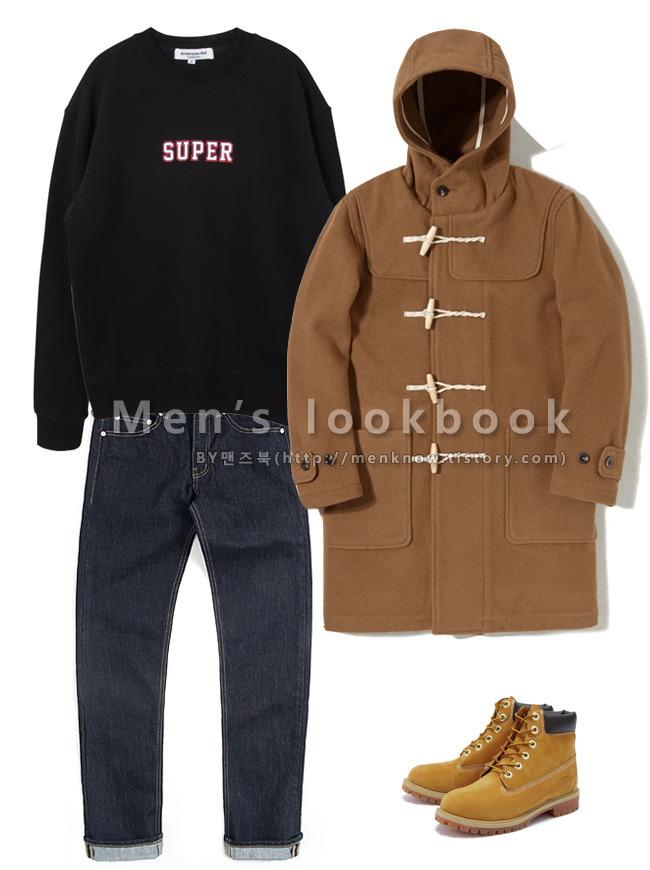 Men Beige Coat 패션
