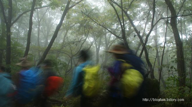 비 오는날 등산